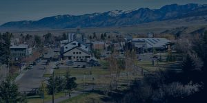 view of Bozeman, MT from top of Peet's Hill