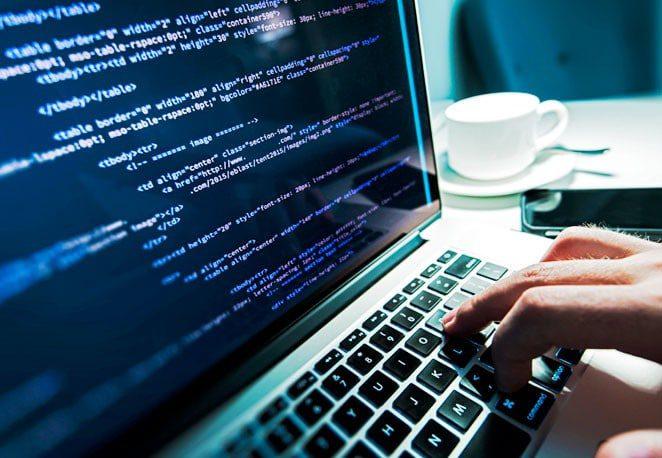custom web design coding being built