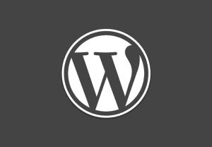 Wordpress grey logo