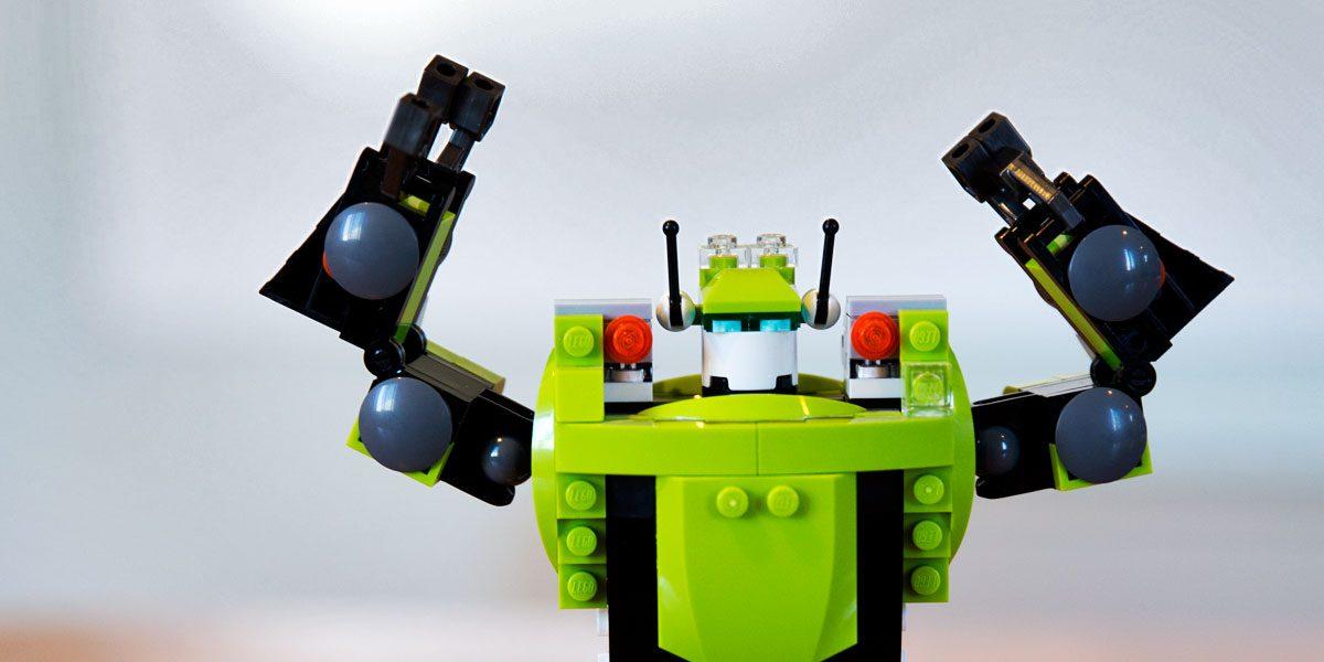 lego robot in Big Storm office in Bozeman, MT