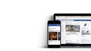 Montana Silversmiths facebook ads displayed on mobile device and laptop