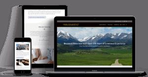 angel coil bartlett website displayed on desktop devices and mobile responsive formats