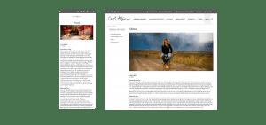 Carol Hagan website about page