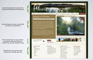 screenshot of Fay Ranches website