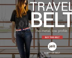 Jelt belt online ad for travel