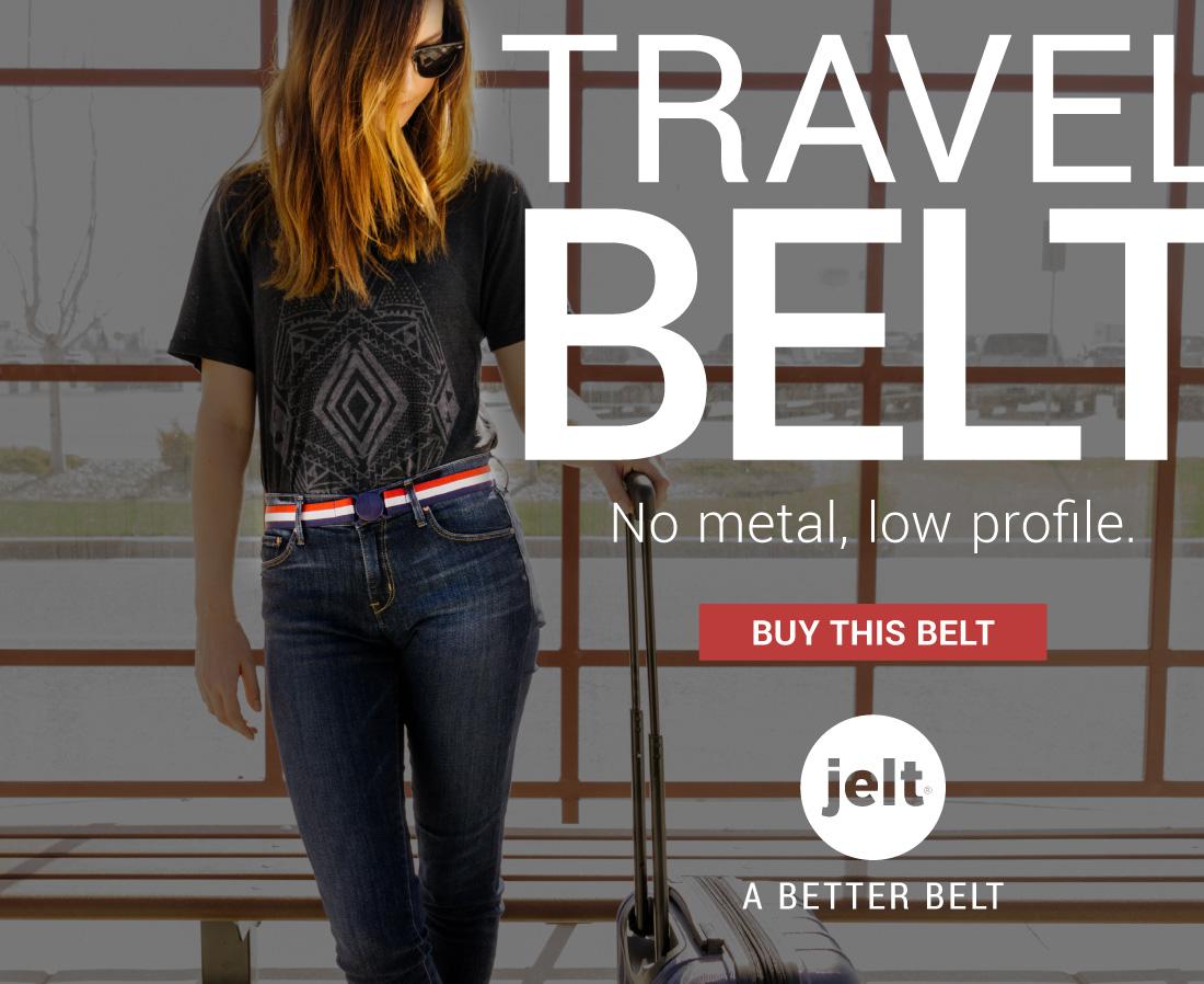 Jelt belt online ad for travel