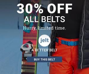 Jelt belt online ad for 30% off