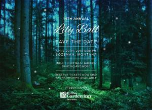 Lilly Ball for Thrive Save the Date for 2018