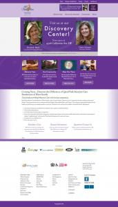 screenshot of the Living Care Lifestyles homepage