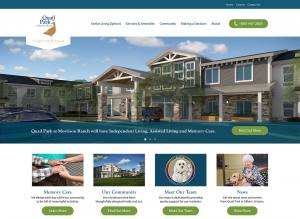 screenshot of the Living Care Lifestyles new homepage