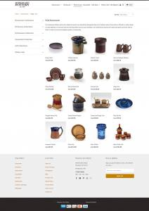 website with handmade pottery for sale