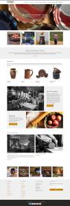 homepage of Mountain Arts Pottery website