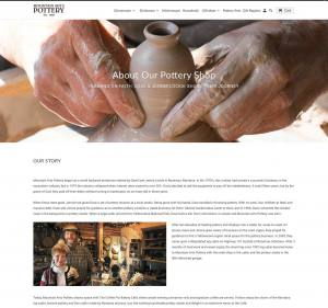 about page of Mountain Arts Pottery website