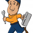 illustration of a repair man