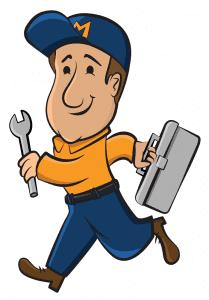 illustration of a repair man