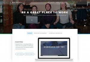 screenshot of Wisetail LMS website homepage