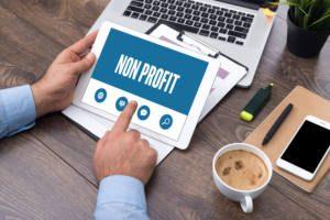 non profit on tablet
