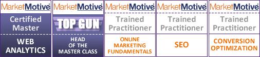 Market Motive Web Analytics SEO CRO Certifications
